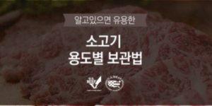 소고기 보관법-용도별 정리