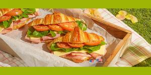 피크닉 분위기 물씬 햄 크루아상 샌드위치